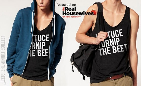 lettuce turnip the beet ® trademark brand OFFICIAL SITE - dark grey tank top with logo - as seen on Real Housewives of New York & in DJ Mag