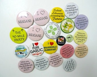 Pick 3 . 80s 90s buttons pins