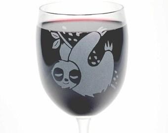 Sloth Wine Glasses