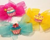 Cupcake Hair Bows Girls Hair Barrette Cupcake Hair Clip Hair Accessory