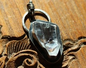 Petalite Amulet - Natural Petalite Crystal - Sterling Silver Necklace - Artisan Made
