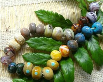 Handmade Lampwork Glass Beads by Catalinaglass SRA Earring Pairs