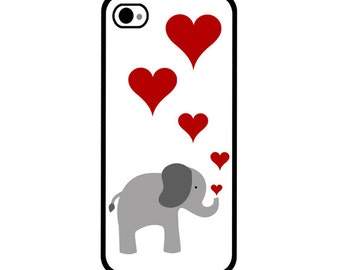 Phone Case - Elephant - Hard Case for iPhone 4, 4s, 5, 5s, 5c, SE, 6, 6 Plus, 7, 7 Plus - iPod Touch 4, 5/6 - Galaxy