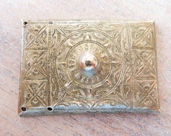Vintage Traditional Handmade Hmong Hilltribe Silver Buckle - 50mmx35mm