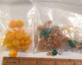 New and vintage glass beads