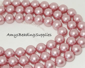 Swarovski 5810 8MM Pearl Powder Rose (25 Beads)