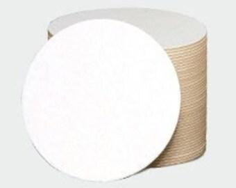 DIY 25 Round Chipboard Coasters