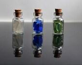 3 Sea glass filled vial bottles  1ml sgV5