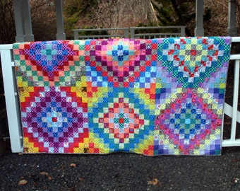 Twin to Double Quilt in Kaffe Fassett Fabrics
