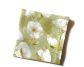 Poppies Shades of  Green Eco Friendly Cotton Cocktail Napkins Appetizer  Napkins Party Napkins Beverage Napkins   - set of 8