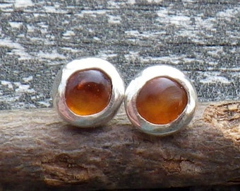 Amber Stud Earrings ...  sterling silver amber studs amber post earrings golden amber earrings minimalist earrings petite earrings