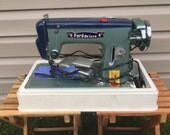 RARE Ford Deluxe Navy BLUE/Green Vintage Sewing Machine