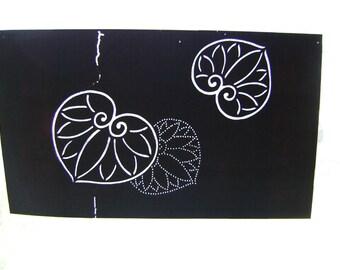 Japanese Kimono Stencil - Katagami - Vintage Stencil - Japanese Stencil - Large Stencil - Vintage Japanese Stencil - Leaves