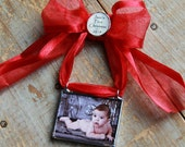 Baby's First Christmas Custom Photo Ornament-My First Christmas Ornament- Personalized Photo Frame-Newborn Keepsake