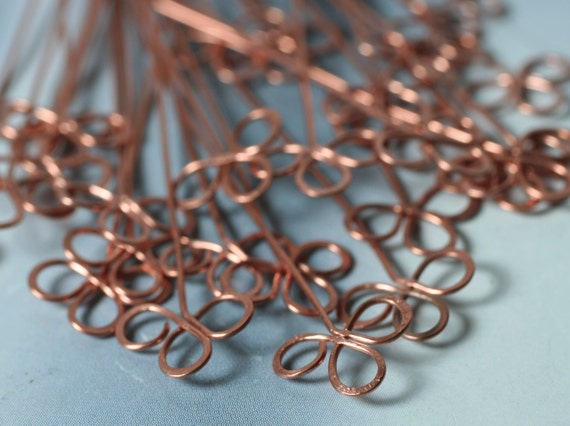 Handmade solid copper clove pin 2 inch long 22g thick, 10 pcs (item ID PCSC22G)