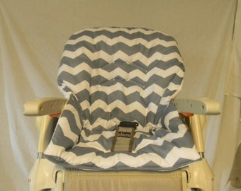 CHICCO POLLY High Chair Cover/Grey Chevron