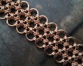 Bronze Chainmaille Bracelet Cuff - Japanese 12 in 2 Weave - Ready to Ship - 10% loaned through Kiva.org