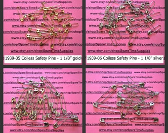 Darice -  French Jewelry Pins - Coiless Safety Pins- 1 pkg - #1939