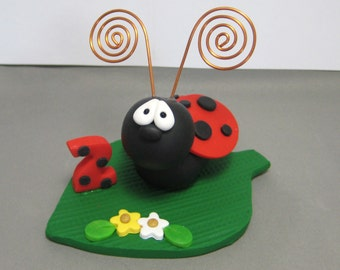 Ladybug polymer clay Cake Topper decoration figurine Made To Order