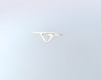 Geometric Stackable Wire ring-Pyramid Ring-Triangle Ring-Vegan Ring-Vegan Gift-Recycled Metals-Gift