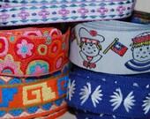 LOT of VINTAGE embroidery trim ribbon jacquard yardage