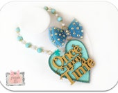 Once Upon A Time Necklace- Giant Heart- Kawaii jewelry- Fairytale Necklace