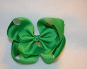 CLEARANCE Boutique Dark Green Bow