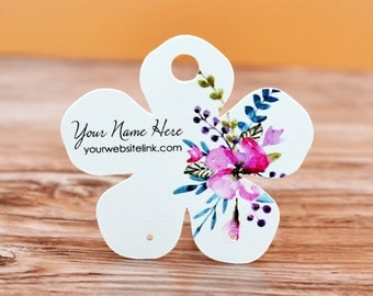 Watercolor Flower Shape Earring Cards - Jewelry Display Tags - Packaging - Necklace Cards - Tags | DS0129