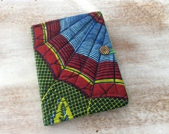 African Fabric Journal - COMPOSITION Notebook Book Cover - Ethnic wax block print