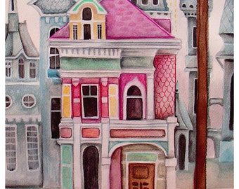 the Squirrel's City House - PRINT