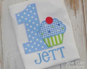 Cupcake Birthday Shirt, Cupcake Shirt, Boy Cupcake shirt, Birthday Cupcake shirt, Boy Birthday, Girl Birthday, sew cute creations