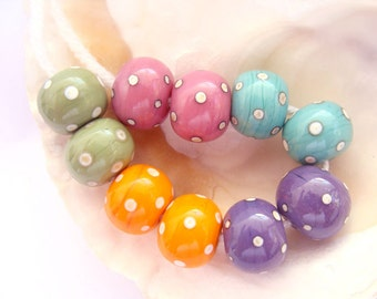 10 Handmade Lampwork Beads