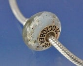 Cremated Ash Glass Bead. With Personalisation.
