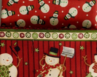 Christmas, Holiday, Fat Quarter, Pack Of 3, Last Chamce