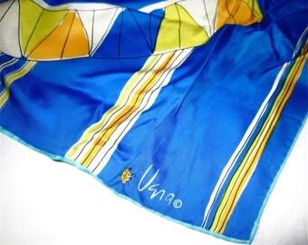 Vera Silk Scarf 26 Inch Square  Lady Bug Logo Mark  Vintage 70s Vera