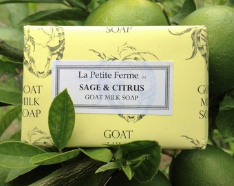 Sage and Citrus goat milk soap - light and refreshing