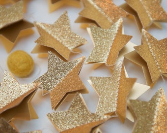 Christmas garland, Wedding starry, gold Christmas decor, New Years Eve, gold garland, star garland, gold wedding decor, silver garland