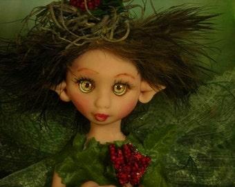 Fairy Fairies Fae pixie elf OOAK Fantasy Art Doll By Lori Schroeder 308sw