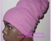 Natural Hair Accessories-HeadBand-HeadTube-Fuchsia-Pink-Dreadlocks Hat