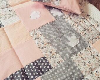 Bunny Quilt/Playmat & Cushion Set