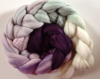 Merino Wool Roving spinning or felting  3.5ozs  CTAS SAL Winter Sparrow Gradient