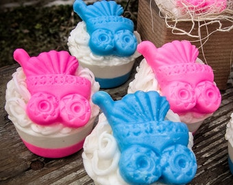 Baby Carriage Favor, Soap Favor, Baby Shower, Baby Carriage,  Shower Favor, Party Favor, Pink Baby, Blue Baby