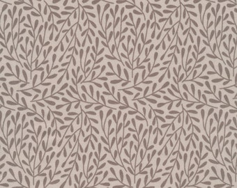 Dancing Vines gray Morning Song Collection Cloud 9 organic cotton quilt fabric