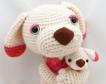 PDF Amigurumi / Crochet Pattern Coco and Niu the Sleepy Eye Dog CP-14-3246