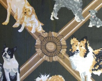 Puppy Dog Fabric Animal breeds Home decor yardage Cyrus Clark sewing craft supply Beagle Pug German Shepherd Doberman Boxer Diy