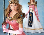 Sewing Pattern Simplicity 8113-Zelda Princess including Armor n Crown-Plus Size