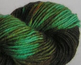 Yarn Merino Sport Sale weight WEE PEOPLE Approximately 200 yards 50 grams OOAK turquoise green brown teal russet