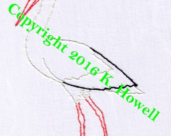 Stork Hand Embroidery Pattern