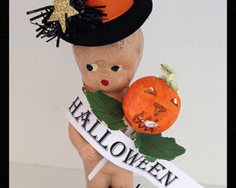 Halloween Decoration Vintage Composition  Baby Halloween Ornament   TVAT