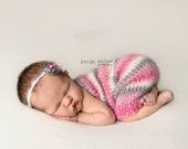 Baby Romper, Knitted onesie, Newborn Photo Props, More colors available